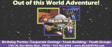 Out of this World Adventure at Blazer Tag
