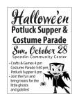 Hallowe'en Potluck Supper & Costume Parade