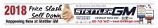 Stettler GM 2018 Price Slash Sell Down