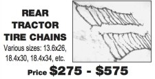 REAR TRACTOR TIRE CHAINS