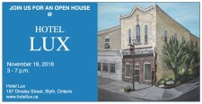 JOIN US FOR AN OPEN HOUSE @ HOTEL LUX