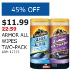 ARMOR ALL WIPES TWO-PACK
