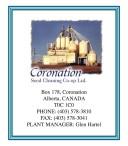 Coronation Seed Cleaning Co-op Ltd. PHONE: (403) 578-3810