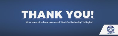 Regina Motor Products honored to have been voted Best Car Dealership in Regina!