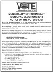 NOTICE OF THE VOTERS' LIST