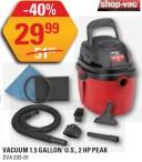 Shop-Vac VACUUM 1.5 GALLON U.S., 2 HP PEAK