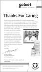 Solvet Thanks You for Caring