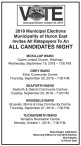 Huron East Invites All Ratepayers To An ALL CANDIDATES NIGHT
