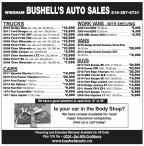 WINGHAM BUSHELL'S AUTO SALES