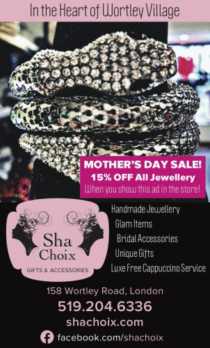 MOTHER'S DAY SALE! 15% OFF All Jewellery When you show this ad in the store!