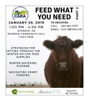 CHINOOK APPLIED RESEARCH ASSOCIATION: FEED WHAT YOU NEED