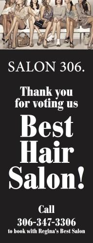 Thank you for voting SALON 306 Best Hair Salon!