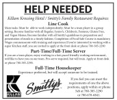 Killam Krossing Hotel / Smitty's Family Restaurant Employment Opportunities