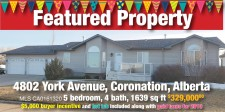 5 bedroom, 4 bath, 1639 sq ft home for sale in Coronation