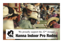 We proudly support the 32nd Annual Hanna Indoor Pro Rodeo