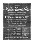 31st annual Robbie Burns Nite