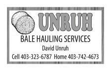 UNRUH BALE HAULING SERVICES