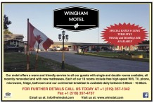 SPECIAL RATES & LONG TERM STAY available at Wingham Motel