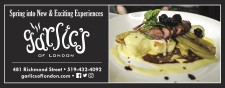 Spring into New & Exciting Experiences at Garlics of London