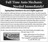 Full Time Auto Mechanic Needed Immediately!