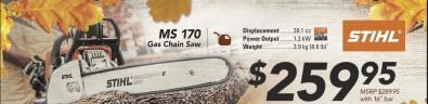 MS 170 Gas Chain Saw