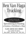 Specializing in Hauling • Grains • Fertilizer • Hay