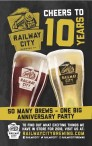 CHEERS TO 10 YEARS, Railway City Brewing