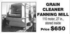 GRAIN CLEANER FANNING MILL